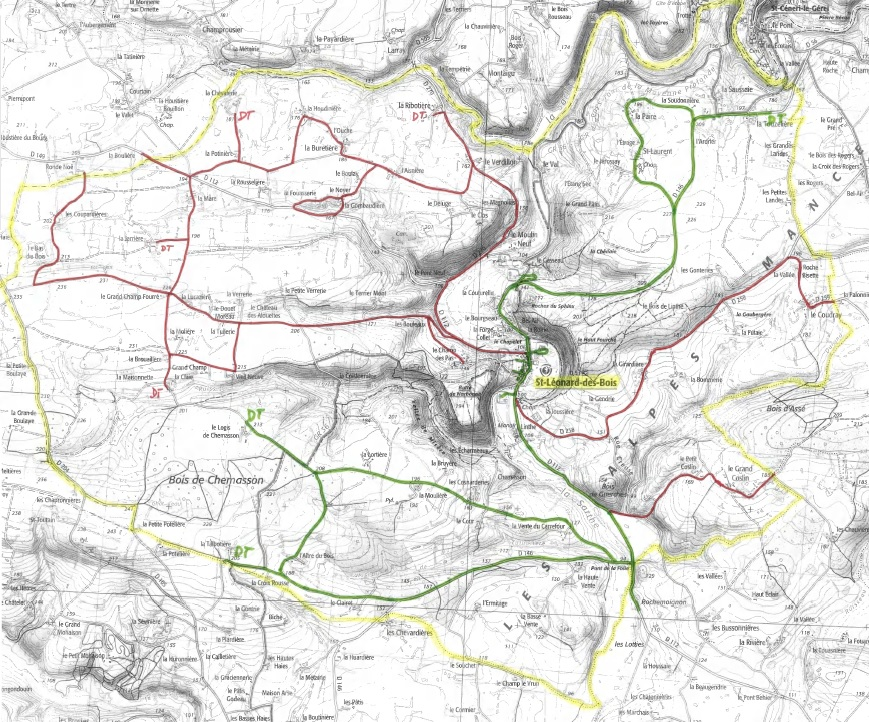 Carte collecte Saint-Léonard-des-Bois